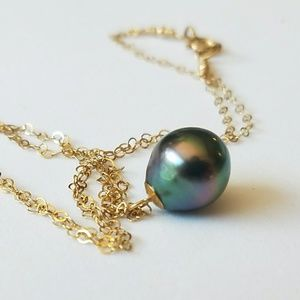 Jewelry - Tahitian pearl necklace 14k gold filled nwt